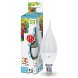 Лампа светодиодная LED-СВЕЧА на ветру-standard 3.5Вт 160-260В Е14 4000К ASD
