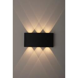 Декоративная подсветка светодиодная  WL12 BK  6*1Вт IP 54 черный  ЭРА
