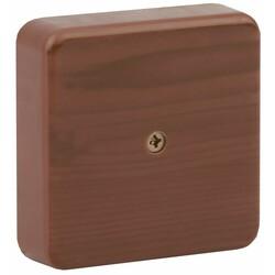 Коробка распаячная 75х75х20 (без клеммы) дуб IP40 (100) ЭРА