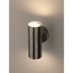 Декоративная подсветка светодиодная  WL16  2*GU10 MAX35W IP54 хром  ЭРА