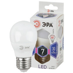 Лампа светодиодная  LED smd P45-7w-860-E27 ЭРА