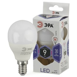 Лампа светодиодная  LED smd P45-9w-860-E14 ЭРА