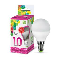 Лампа светодиодная LED-ШАР-standard 10Вт 230В  Е14 6500К 900Лм ASD