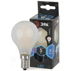 Лампа светодиодная  F-LED P45-5w-840-E14 frost ЭРА
