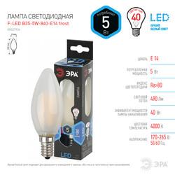 Лампа светодиодная  F-LED B35-5w-840-E14 frost ЭРА