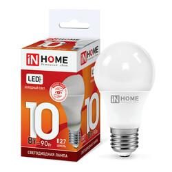 Лампа светодиодная LED-A60-VC 10Вт 230В Е27 6500К 900Лм IN HOME
