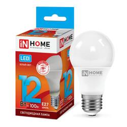 Лампа светодиодная LED-A60-VC 12Вт 230В Е27 4000К 1080Лм IN HOME
