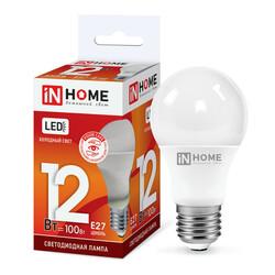 Лампа светодиодная LED-A60-VC 12Вт 230В Е27 6500К 1080Лм IN HOME