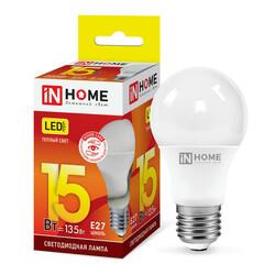 Лампа светодиодная LED-A60-VC 15Вт 230В Е27 3000К 1350Лм IN HOME