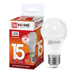 Лампа светодиодная LED-A60-VC 15Вт 230В Е27 6500К 1350Лм IN HOME