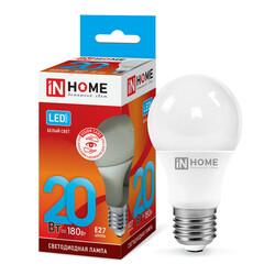 Лампа светодиодная LED-A65-VC 20Вт 230В Е27 4000К 1800Лм IN HOME