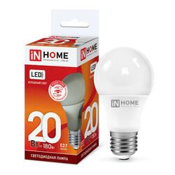 Лампа светодиодная LED-A65-VC 20Вт 230В Е27 6500К 1800Лм IN HOME