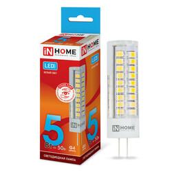 Лампа светодиодная LED-JC-VC 5Вт 12В G4 4000К 450Лм IN HOME