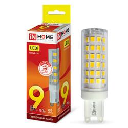 Лампа светодиодная LED-JCD-VC 9Вт 230В G9 3000К 810Лм IN HOME