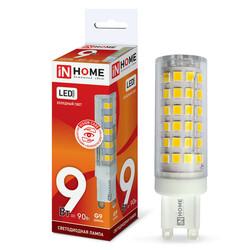 Лампа светодиодная LED-JCD-VC 9Вт 230В G9 4000К 810Лм IN HOME