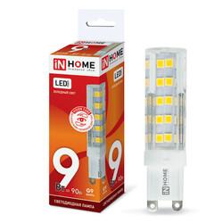 Лампа светодиодная LED-JCD-VC 9Вт 230В G9 6500К 810Лм IN HOME