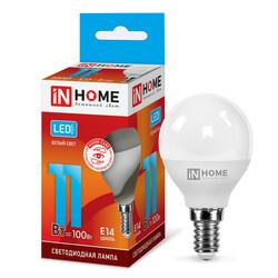 Лампа светодиодная LED-ШАР-VC 11Вт 230В Е14 4000К 820Лм IN HOME