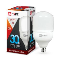 Лампа светодиодная LED-HP-PRO 30Вт 230В Е27 4000К 2700Лм IN HOME