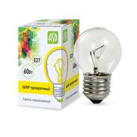 Лампа накал. ШР P45 60Вт 220В Е27 МТ ASD