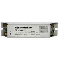 ПРА электронный ETL-236A2 2x36 Вт Т8/G13 100 LLT