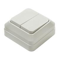 7023-W Выключатель 2 кл. о/у BOLLETO белый (1200) 10/200 IN HOME