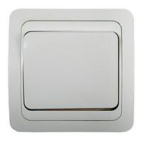 2021-W Выключатель 1кл. с/у СLASSICO белый  (2100) 10/200 IN HOME