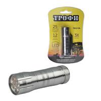 TM12 Фонарь Трофи 12xLED, алюм, 3хААА, карт (60/360)
