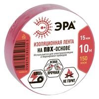 Изолента-ПВХ 15мм*10м красная 043850 ЭРА