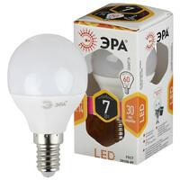 Лампа светодиодная  LED smd P45-7w-827-E14 ЭРА