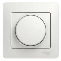 GSL000134 Светорегулятор (диммер) поворотный, 300Вт, в сборе, белый (6шт) GLOSSA