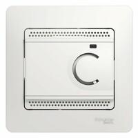GSL000138 Термостат электрон. теплого пола с датчиком, от+5до+50С, 10Ав сборе, белый (4шт) GLOSSA