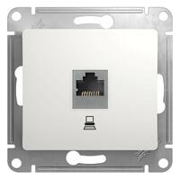 GSL000181К Розетка компьютерная RJ45 кат.5 Е. механизм, белый (10шт) GLOSSA