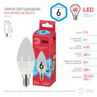 Лампа светодиодная  LED smd B35-6w-840-E14 ECO ЭРА