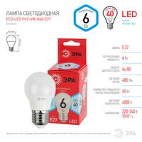 Лампа светодиодная  LED smd Р45-6w-840-E27 ECO ЭРА