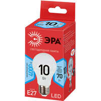 Лампа светодиодная  LED smd  A60-10w-840-E27 ECO ЭРА