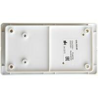 GSL000160 БЛОК: Розетка и 1-клавишный  выключатель, белый(9шт) GLOSSA