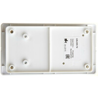 GSL000174 БЛОК: Розетка з/к  со шт. + 2-клавишный  выключатель, белый(9шт) GLOSSA