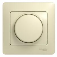 GSL000236 Светорегулятор (диммер) поворотный, 600Вт BA, в сборе, бежевый (2шт) GLOSSA