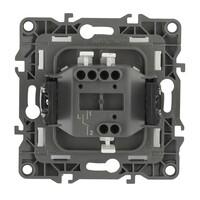 Выключатель 1 клавишный 10АХ-250В  черный  (10шт) 12-1101-06 ЭРА