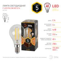 Лампа светодиодная  F-LED P45-5w-827-E14 ЭРА