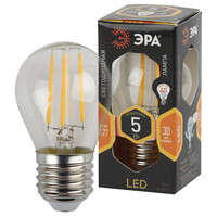 Лампа светодиодная  F-LED P45-5w-827-E27 ЭРА