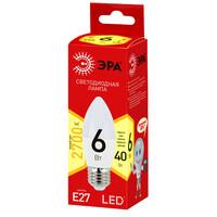 Лампа светодиодная  LED smd B35-6w-827-E27 ECO ЭРА
