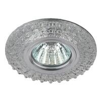 Светильник DK LD2 SL/WH  декор c белой светодиодной подсветкой (3W), прозрачный ЭРА