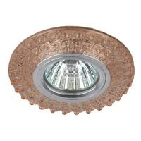 Светильник DK LD2 TEA/WH  декор c белой светодиодной подсветкой (3W), чай ЭРА