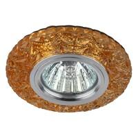 Светильник DK LD4 TEA/WH+PU декор cо светодиодной подсветкой( белый+фиолетовый) (3W), чай ЭРА