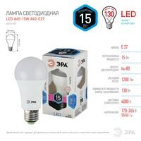 Лампа светодиодная  LED smd A60-15w-840-E27 ЭРА