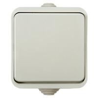 3100 Выключатель 1кл AQUA  белый п/герм 10/200 IN HOME