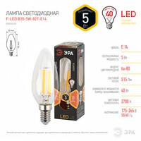 Лампа светодиодная  F-LED B35-5w-827-E14 ЭРА