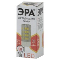 Лампа светодиодная  LED smd JC-5w-220V-corn, ceramics-827-G4 ЭРА