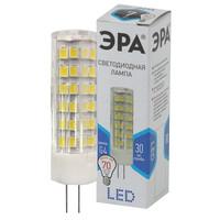 Лампа светодиодная  LED smd JC-7w-220V-corn, ceramics-840-G4 ЭРА